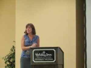 Valerie DuVall speaking at Warrior Event Orlando